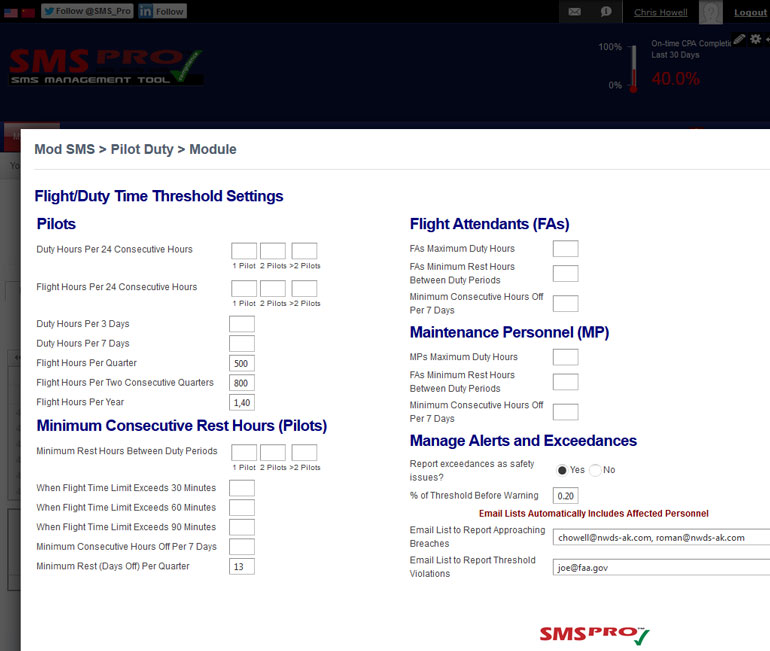 SMS Software for Airlines, Airports, Maintenance, Flight Schools, Drones UAS