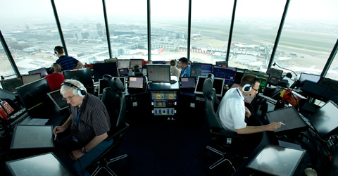 Inside Heathrow Air Traffic Control Tower